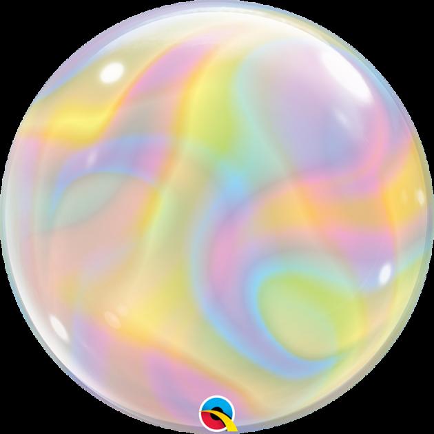 Qualatex 22吋特殊系列泡泡球/Iridescent Swirls 1